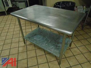 (2) 3' x 6' Stainless Steel Work Tables
