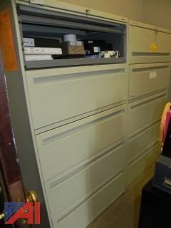 (5) Metal Filing Cabinets