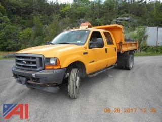 2001 Ford F550 Crew Cab Dump