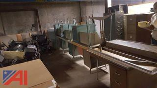 Lot of Filing Cabinets and Desks