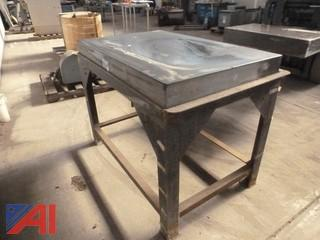 Measuring Stone on Steel Stand