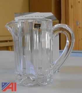 Pitchers, Glassware, Vases etc.