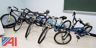 5) Piece Group of Assorted Bicycles