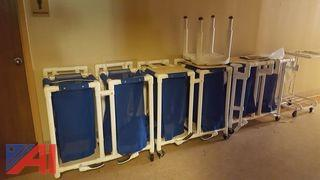 Lot of Plastic Tubular Medical Hampers and More