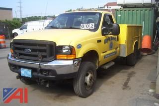 2001 Ford F350 4x4 Truck with Utility Body