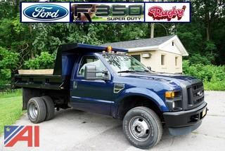 2008 Ford F350 4x4 Truck with Rugby 9' Dump Body