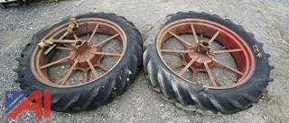 Pair of Vintage Tractor Rims