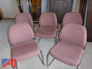 (5) Cloth Office Chairs (#1270)