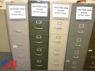 (4) File Cabinets, (3) Standard, (1) Legal (#1302)