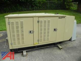 2001 Generac 2000 Series 25 kw Propane Generator w/ Transfer Switch (1)