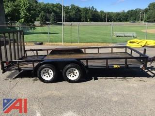 2002 Big Tex 7' x 16' Black Landscape Trailer