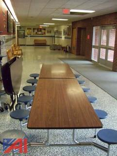 (9) SICO Rectangle Lunch Tables with Seats