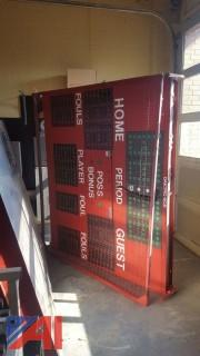 Lot of Daktronics Scoreboards and Time Clocks
