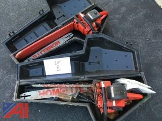 (2) Homelite Super XL Chain Saws