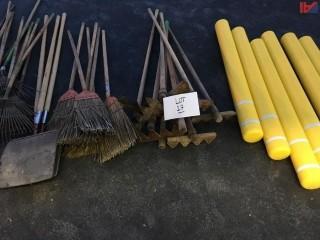 (6) Concrete Ballards-New/Various Brush Fire Tools