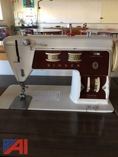 (9) Singer Sewing Machines