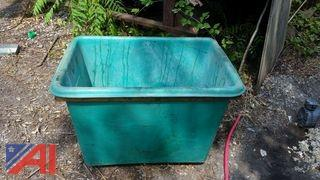 Plastic Tub and Wood Bins
