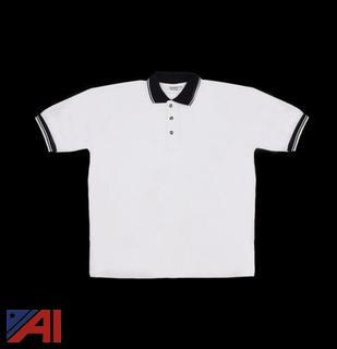(50) Men's Medium White Knit Pullover Golf Polo Shirts