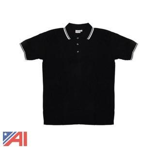 (50) Men's Black Knit Pullover Golf Polo Shirts