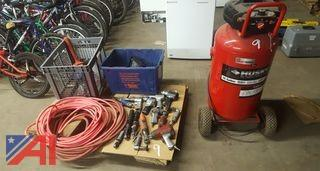 Husky 26 Gallon Air Compressor and More