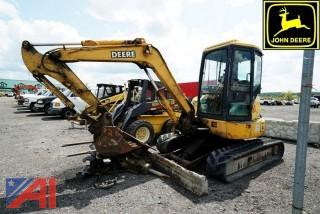 2005 John Deere 50ZTS Mini Excavator and Accessories