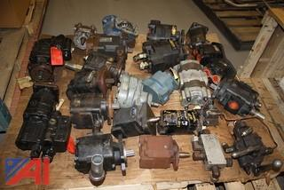 Large Lot of PTO's and Hydraulic Pumps