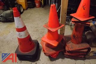 Construction Zone Sign Holders and Cones