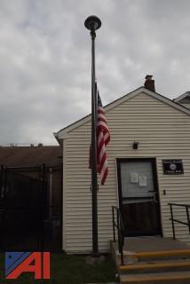 Lighted Flagpole