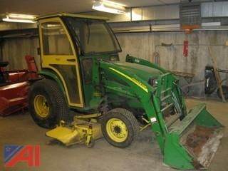 John Deer 420 Tractor with Loader & Attachments