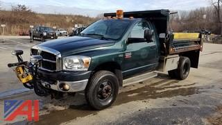 2007 Dodge Ram 3500 Pickup with Dump Body and Plow
