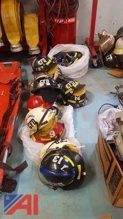Assorted Bullard Fire Fighter Helmets