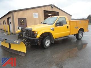 2009 Ford F350 XL SD Utility Truck with Plow