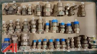 Assorted Water Service Brass Fittings, (1,465)
