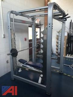 Smith Assisted Squat Rack Machine