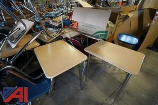 Large Group of Student Desks & Chairs