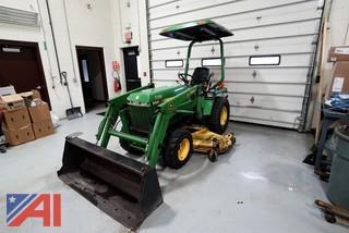 1990 John Deere 855 Tractor/Loader/Mower/4WD