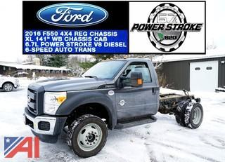 **5% BP** 2016 Ford F550 Cab & Chassis