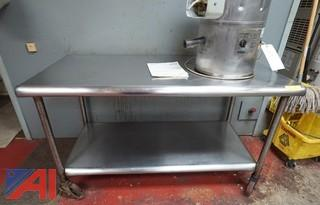 Stainless Steel Commercial Prep Table