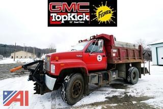 1991 GMC Topkick C7500 Dump Truck with Plow & Spreader