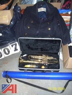 Trumpet with Case and Coat