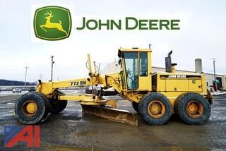 1994 John Deere 772BH Motor Grader With Plow & Wing Blade