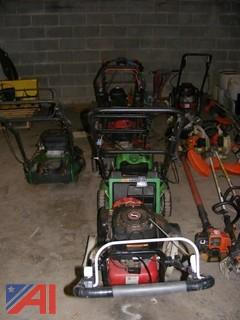 Assorted Walk Behind Lawn Mowers & More