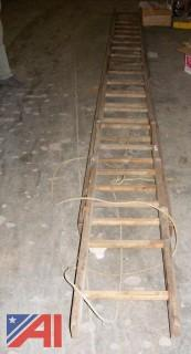 40' Wooden Extension Ladder
