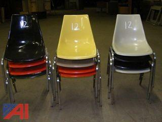 Vintage Krueger Fiberglass Stacking Chairs