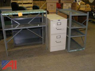 Metal Shelving & Metal Filing Cabinet