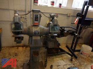 Baldor 220 Free Standing Heavy Duty Wheel Grinder