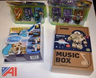 Animal Brush, 3D Puzzle Music Box and Skylanders