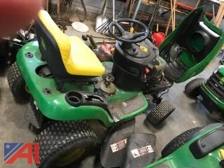 About 2011 John Deere D100 Riding Tractor Mower