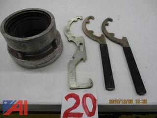"Storz To 4"" Threaded With Mounting Plate And (3) Storz Wrenches"