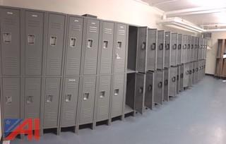Double Tiered Metal Lockers